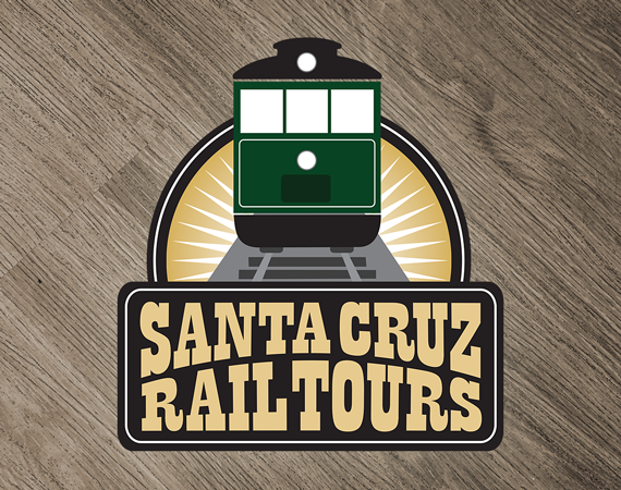 Santa Cruz Rail Tours Logo and Brochure