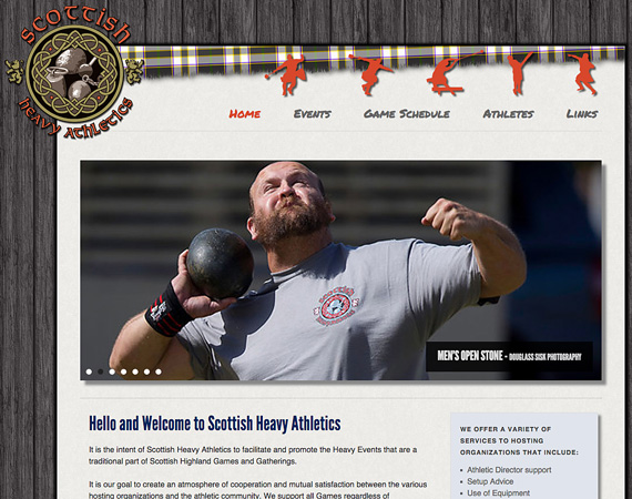 Scottish Heavy Athletics Website home page
